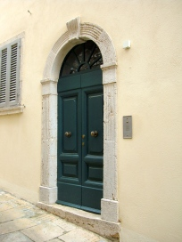 The entrance door